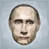 Portrait Vladimir Putin president Russia low poly Royalty Free Stock Image