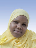 Portrait of a voluptuous woman wearing a headscarf Stock Photos