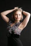 Portrait vom Mädchen-blonden Stockfotografie