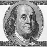 Portrait von Benjamin Franklin Stockfoto