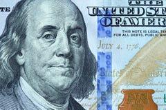 Portrait von Benjamin Franklin Stockbild