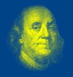 Portrait von Benjamin Franklin Stockfotos