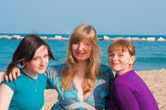 Portrait von drei attraktive Mädchen Stockfotografie