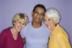 Portrait von drei Frauen. Lizenzfreie Stockfotografie