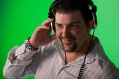 Portrait von einem DJ Stockbilder