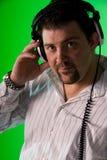 Portrait von einem DJ Lizenzfreie Stockbilder