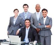 Portrait von Geschäftsleute lizenzfreie stockfotos