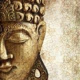 Portrait von goldenem Buddha Stockfotos