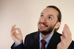 Portrait von junge erfolgreiche Geschäftsmänner Lizenzfreies Stockfoto