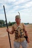 Portrait von männlichem Stammes- Kalimantan Indonesien Lizenzfreies Stockbild