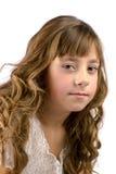 Portrait von neun Jahren alten Mädchen lizenzfreies stockfoto