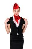 Portrait von Stewardess Lizenzfreie Stockbilder