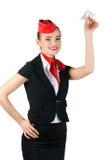 Portrait von Stewardess Stockfotografie