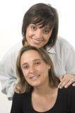 Portrait von zwei jungen Frauen lizenzfreies stockfoto