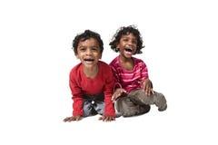 Portrait von zwei Kindern indisch lizenzfreie stockbilder