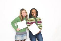 Portrait von zwei Mädchen Stockbilder