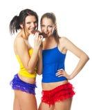 Portrait von zwei schönen freundlichen Frauen Lizenzfreie Stockbilder
