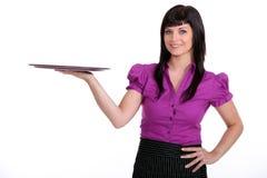 Portrait of a waitress Stock Images