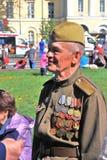 Portrait of a war veteran. Stock Photos