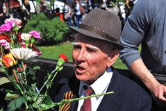 Portrait of a war veteran. Royalty Free Stock Photo
