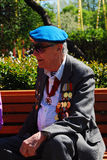 Portrait of a war veteran. Royalty Free Stock Photo