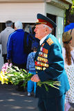 Portrait of a war veteran walking in the Gorky park. Stock Photo