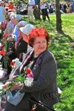 Portrait of a war veteran woman. Stock Photos