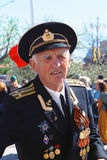 Portrait of a war veteranin black uniform. Stock Photography