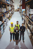 Portrait of warehouse manager and workers Stock Photography