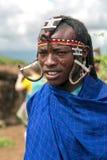 Portrait of  warrior Maasai Mara tribe Royalty Free Stock Photo
