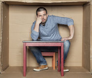 Portrait of wasted man. Sad face Stock Images