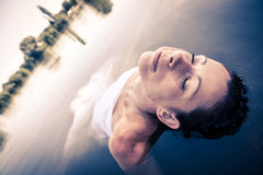 Portrait in the water Royalty Free Stock Photography