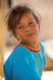Portrait of Wayuu Indian girl in Punta Gallinas Stock Photography