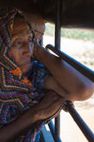 Portrait of Wayuu Indian old woman Stock Photos