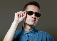 Portrait wear sunglasses Stock Images