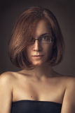 Portrait wearing spectacles Royalty Free Stock Photo