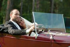 Portrait of wedding couple Royalty Free Stock Photos