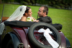 Portrait of wedding couple Royalty Free Stock Images