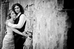 Portrait of a wedding couple Royalty Free Stock Photography