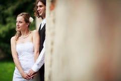 Portrait of a wedding couple Royalty Free Stock Photos