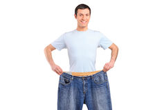 Portrait of a weight loss male Stock Images