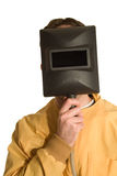 Portrait of a Welder Stock Images