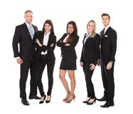 Portrait of welldressed businesspeople Stock Photo