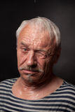 Portrait of a wet man Royalty Free Stock Photography