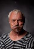 Portrait of a wet man Stock Photo