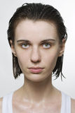 Portrait of wet woman Royalty Free Stock Photos