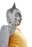 Portrait white old buddha Royalty Free Stock Photo