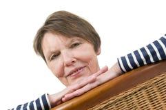 Portrait on wicker chairs slanting Royalty Free Stock Photo