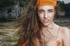 Portrait in the wind Royalty Free Stock Photography