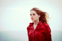 Portrait in wind Royalty Free Stock Photos